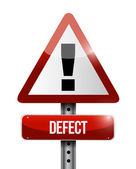 Defect warning road sign illustration design — 图库照片