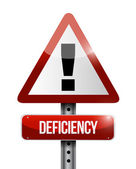 Deficiency warning road sign illustration design — Stock Photo