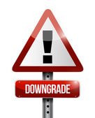 Downgrade warning road sign illustration — Zdjęcie stockowe