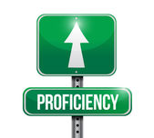 Proficiency road sign illustration design — Stock Photo