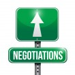Negotiations road sign illustration design — Stock Photo #35440953