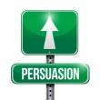 Persuasion road sign illustration design — 图库照片 #35441165