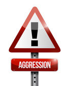 Aggression warning road sign illustration design — Stock Photo
