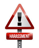 Harassment warning road sign illustration design — Stock Photo