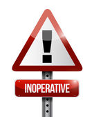 Inoperative warning road sign illustration design — Stockfoto