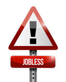 Jobless warning road sign illustration design — Stock Photo
