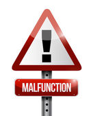 Malfunction warning road sign illustration design — Stock Photo