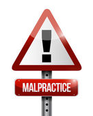 Malpractice warning road sign illustration design — Stockfoto