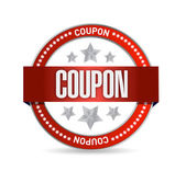 Coupon seal illustration design — Stock Photo