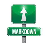 Markdown silnice znamení ilustrace design — Stock fotografie