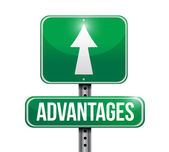 Advantages road sign illustration design — Stock Photo