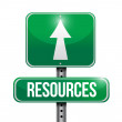 Stock Photo: Resources road sign illustration design