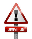 Competitors warning road sign illustration — Stock Photo