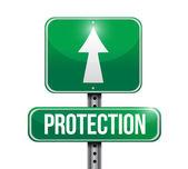 保护道路标志插画设计 — 图库照片