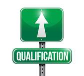 Qualification road sign illustration design — Stock Photo