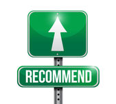 Recommend road sign illustration design — Stock Photo