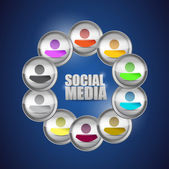 Diversity social media concept illustration. — Zdjęcie stockowe