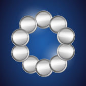Link of metallic circles ready for customization. — Stock Photo