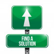 Find a solution road sign illustration design — Stock Photo