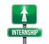 Internship road sign illustration design — Stock Photo