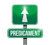 Predicament road sign illustration design — Stock Photo