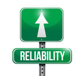 Reliability road sign illustration design — Stock Photo