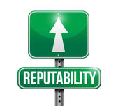 Reputability road sign illustration design — Stock Photo