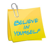 Believe in yourself post illustration design — Stock Photo