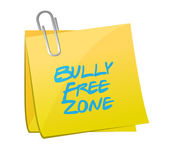 Bully free zone post illustration design — Stock Photo