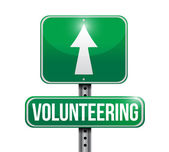 Volunteering road sign illustration design — Stock Photo