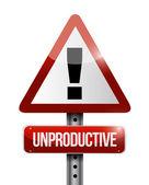Improduktiva varning road tecken illustration — Stockfoto
