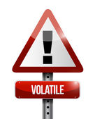 Volatile warning road sign illustration design — Stock Photo
