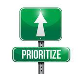 Prioritize road sign illustration design — Stock Photo