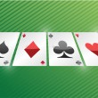 Playing cards. set of aces. illustration design — Stock Photo