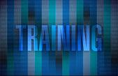 Training binary illustration design — Stock Photo