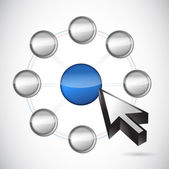 Network selection. illustration design — Stock Photo