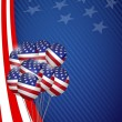 Usa graphic. american flag balloon flag background — Stock Photo