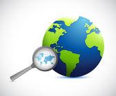Powiększyć ilustracja mapa międzynarodowy świat — Zdjęcie stockowe