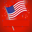 Stock Photo: Us flag patriotic background illustration