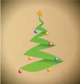 Christmas tree illustration design — Stock Photo