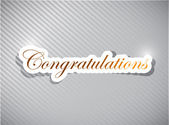 Congratulations card illustration design — Stock Photo