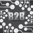 Business to business circuit boards illustration — Foto Stock