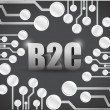Business to consumer circuit boards illustration — Foto Stock