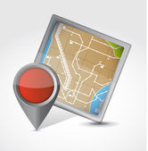 Map and pointer illustration design — Stock Photo