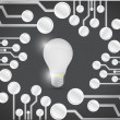 Idea bulb circuit board illustration design — Stok fotoğraf