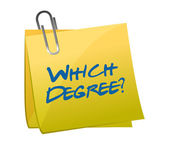 Which degree post question illustration design — Stock Photo