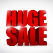 Huge sale sign illustration design — Stock Photo #36280791