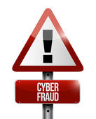 Cyber fraud warning illustration design — Stock Photo