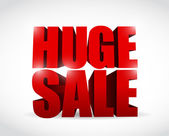Huge sale sign illustration design — Stock Photo