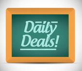 Daily deals message illustration design — Stock Photo